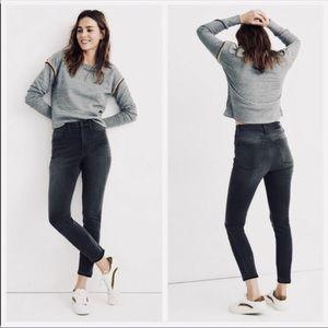 Madewell Black Raw Hem Roadtripper High Rise Jeans in Size 29